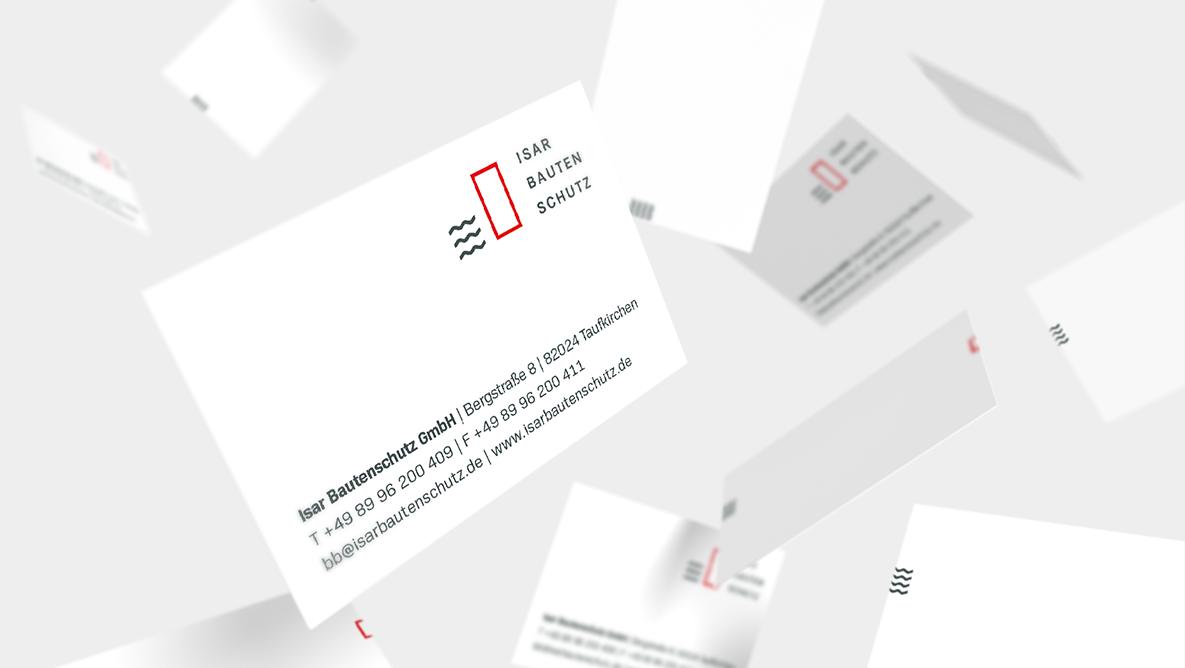 Isar Bautenschutz Corporate Design, Branding, Geschäftsausstattung, Visitenkarte